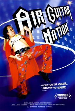 Airguitar~Air-Guitar-Nation-Blue-Posters