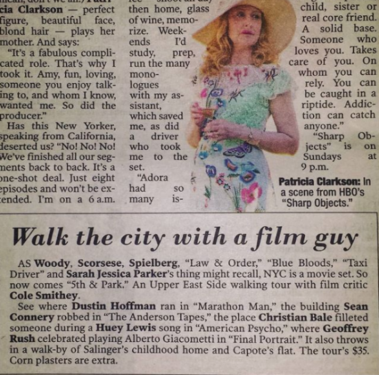 5th & Park on Page Six of The Post